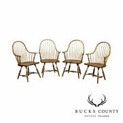 Duckloe Windsor Style Set Of 4 Continuous Arm Chairs