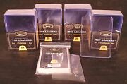 Lot Of 100 Cardboard Gold Quality 3x4 Plastic Top-loaders Card Holders + Sleeves