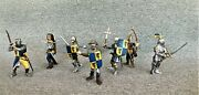 Schleich Ritter Blue Knights Lot Of 7 Bows Swords Axe Maces Out Of Box Free Ship
