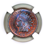1905 Ms66 Bn Ngc Indian Head Penny Premium Quality Superb Eye-appeal