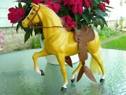 Mattel Inc 1980 Vintage Toy Horse With Saddle, Bridle, And Reigns, Pristine Cond