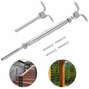 Stainless Steel Turnbuckle Tensioner Deck Toggle Set 1/8 Cable Railing T316 10p