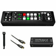 Roland V-1hd Str Video Switcher Streaming Bundle + Uvc-01 W/ Hdmi Cable And Straps