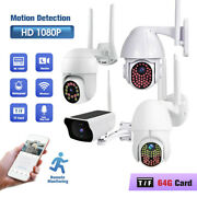 Hd 1080p Led Wifi Ip Cctv Security Camera Wireless Outdoor Home Ptz Ir Cam Lots