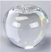 Vintage - Gorgeous - Signed And Co Crystal Apple Paperweight Solid