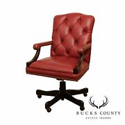 Whittmore Sherrill Tufted Leather Executive Desk Chair