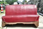 1946 1947 1948 Dodge D24 Custom Deluxe Front Seat Assembly Red Vinyl 46 47 48