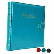 Kingth Photo Albums For 4x6 Photos Holds Leather Cover Photo 500 Pockets Blue