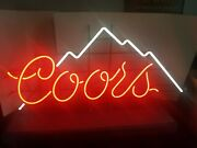 Vtg 1970s Coors Beer Neon Giant 50 Long Light Up Sign Bar Game Room Man Cave
