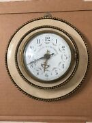 Rare Antique Paris Compressed Air Network French Wall Clock Cpac Pneumatic Parts