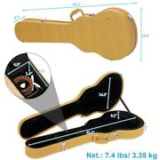 For Lp Les Paul Type Wooden Hard Shell Electric Guitar Storage Case Lockable Box