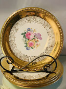 Vintage Taylor Smith And Taylor Eastern China 22k Heavy Gold Trim Floral Plate 4