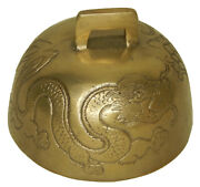 Chinese Dragon Engraved Handmade Brass Feng Shui Bell Wind Chime Home Decor Gift