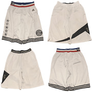 Nba All-star East Under Armour Adidas Mens Lot Of 2 Basketball Shorts White M/l