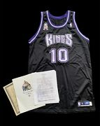 Mike Bibby Kings Game Worn Used Jersey 2001 9/11 Patch With Charity Coa 46+2 Nba