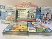Leap Frog Little Touch Leap Pad Learning System 5 Cartridges W/ Books
