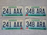 2 Matching Pairs Of Expired 1998-1999 Missouri License Plates, Show-me State
