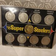 1995 Super Steelers Pittsburgh Nfl Giant Eagle Complete Set Of 9 Coins