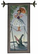 Disney Haunted Mansion Stretching Portrait Tapestry Tightrope Girl Ltd. Edition