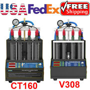 Ultrasonic 4 Cylinder Car Fuel Injector Tester Cleaner Cleaning Cleaning Machine