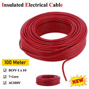 100 Meter Electrical Cable Cord Pvc Insulated Copper Core Round Wire Replacement