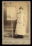 Photo Young Banner Lady Holding Furniture Sign Miniature Chairs Wallpaper Dress