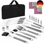 Masthome 18-piece Bbq Grill Tool Bag Stainless Steel Barbecue Utensil Set With