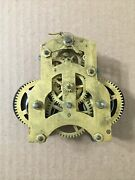 Antique Ansonia Time Only Lever Action Marine Clock Movement Parts
