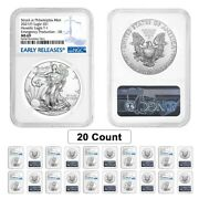 Lot Of 20- 2021 P 1 Oz Silver American Eagle Ngc Ms 69 Er Emergency Production