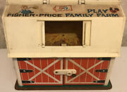 Vintage Fisher Price Barn Sold As Is...very Used Toy Farm Barn Only 1967