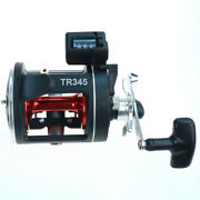 Trolling Reel Round Saltwater Conventional Reel With Line Counter Right Hand