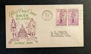 1936 Rhode Island Tercentenary Fdc 777 56 Cover To Manchester Ct