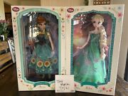 Disney Limited Edition Frozen Fever Dolls Anna And Elsa