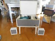 Vtg Arvin Record Player Stereo 4 Spd. Automatic Tube Amp Restored Watch Play