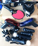 Ps3 Move Bundle Playstation Lot Accessories Camera Controller Guns And More