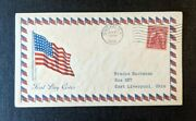 1929 American Flag Owego Ny Fdc 657 43 Cover To East Liverpool Ohio