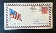 1929 American Flag Waterloo Ny Fdc 657 43 Cover To East Liverpool Ohio
