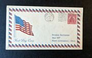 1929 American Flag Watkins Glen Ny Fdc 657 43 Cover To East Liverpool Ohio