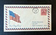 1929 American Flag Waverly Ny Fdc 657 43 Cover To East Liverpool Ohio