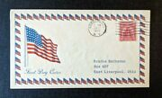 1929 American Flag Horseheads Ny Fdc 657 43 Cover To East Liverpool Ohio