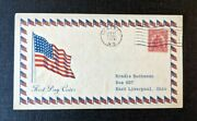 1929 American Flag Geneseo Ny Fdc 657 43 Cover To East Liverpool Ohio