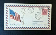 1929 American Flag Binghamton Ny Fdc 657 43 Cover To East Liverpool Ohio Signed
