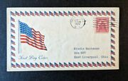 1929 American Flag Canandaigua Ny Fdc 657 43 Cover To East Liverpool Ohio