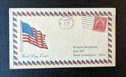 1929 American Flag Elmira Ny Fdc 657 43 Cover To East Liverpool Ohio