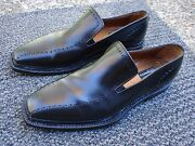 Ultra Elite And Magnificent Moreschi Tirolese Hand Made Italian Blackloafer Size 9