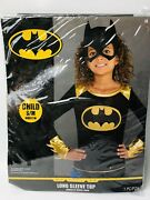Batgirl Dc Comics Long Sleeve Top Only Child Size S/m New