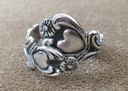✔️magnificent✔️ Vintage Avon Signed 925 Sterling Silver Spoon Wrap Size 7.5 Ring