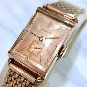 Rare Longines 1943 Years Antique Square Menand039s Watch Hand-winding Operation Goods