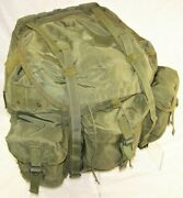 U.s. Army Alice Combat Field Pack Large Lc-1 Frame Olive Green 8465-01-019-9103