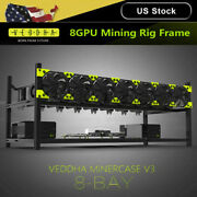 Us 8 Gpu Stackable Rack Open Air Mining Rig Frame Case Computer Ethereum Eth Us